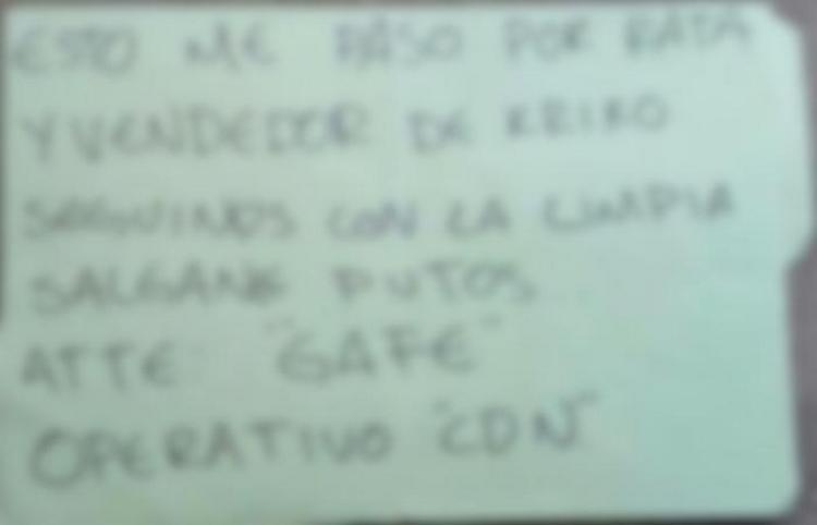Sicarios del CDN dejan un sujeto ejecuta junton a mensaje en San Luis Potosí.