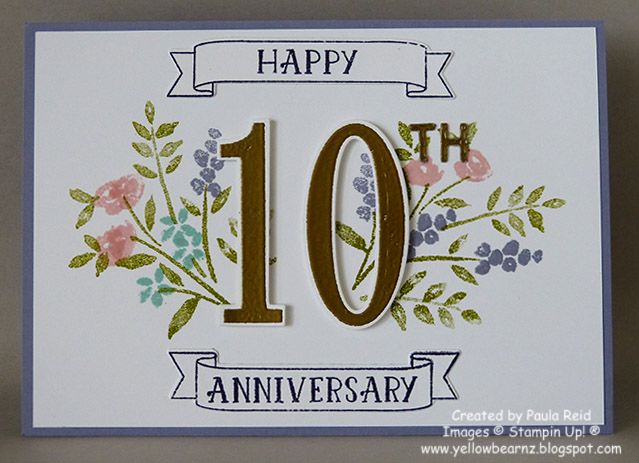 Yellowbear Stampin: Happy 10th Wedding Anniversary