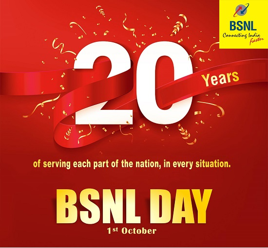 BSNL to celebrate October 2020 as 'Customer Delight Month' by offering 25% extra free data with all prepaid vouchers and STVs