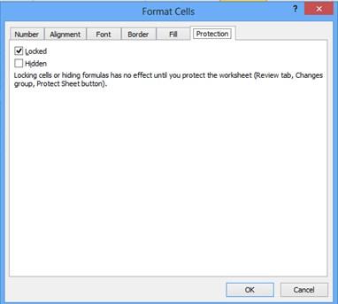 Lock Cell dan Hidden di Excel