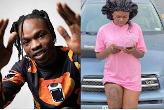 Naira Marley jokingly said lady who tattooed his face on her leg should be locked up, see what she did