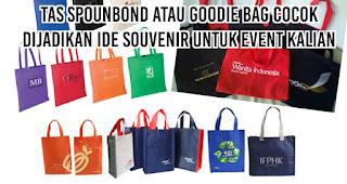 Tas Spounbond atau Goodie Bag cocok dijadikan ide souvenir untuk event kalian
