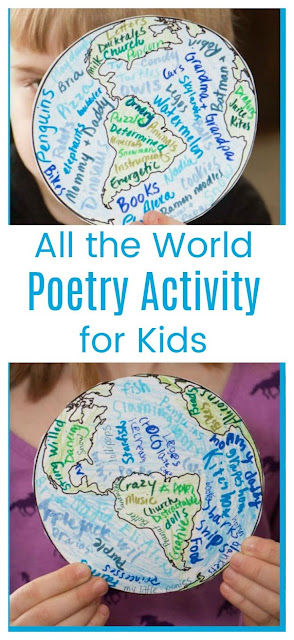 All the World Poetry Activity for Kids