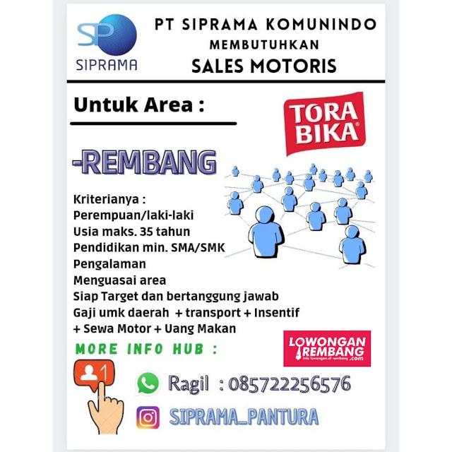 Lowongan Kerja Sales Motoris Mayora Torabika Rembang