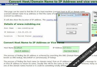 Cara Cek Domain Ke Alamat IP Biasa Offline Maupun Online