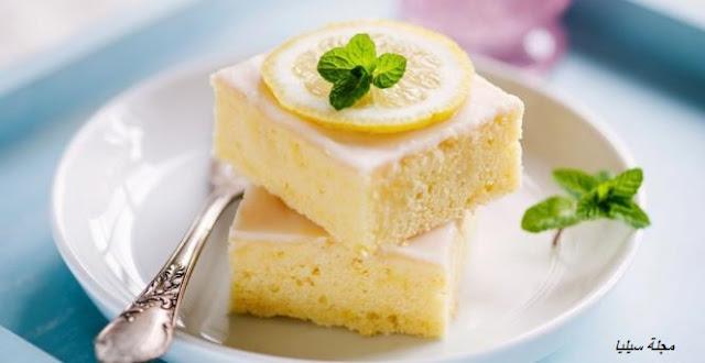 كيكة الليمون بدون بيض -مجلة سيليا
