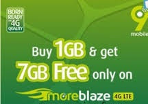 Get Free 7GB Data When You Buy 1GB Monthly Plan on 9mobile