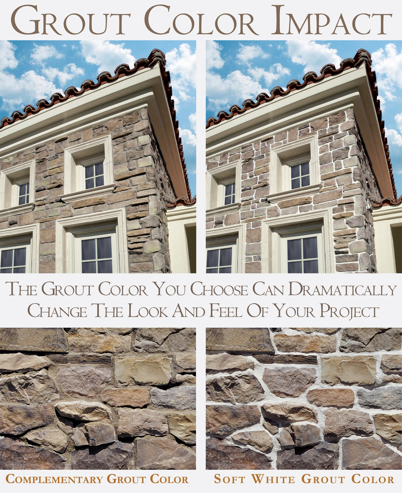 Grout for stone: properties and types