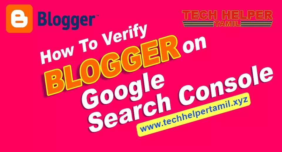 How to Verify Blogger on Google Search Console Tamil?