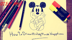 step mickey mouse drawing tutorial easy drawings sketches