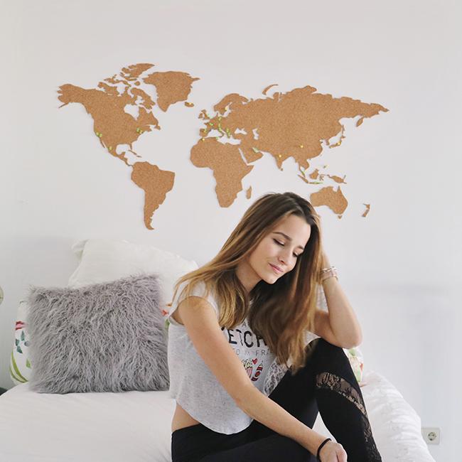 Dare to diy diy room decor cabecero con mapa del mundo - Ideas para hacer un cabecero original ...