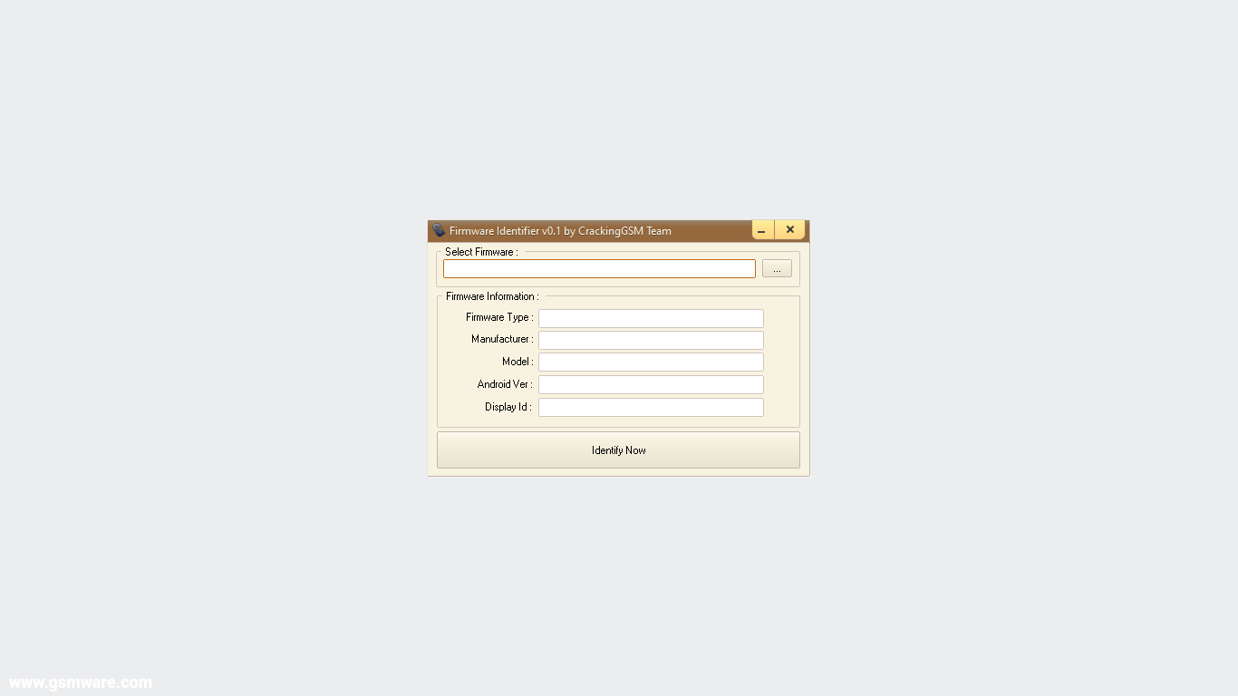 Firmware Identifier Tool V0.1 By CrackingGSM Team
