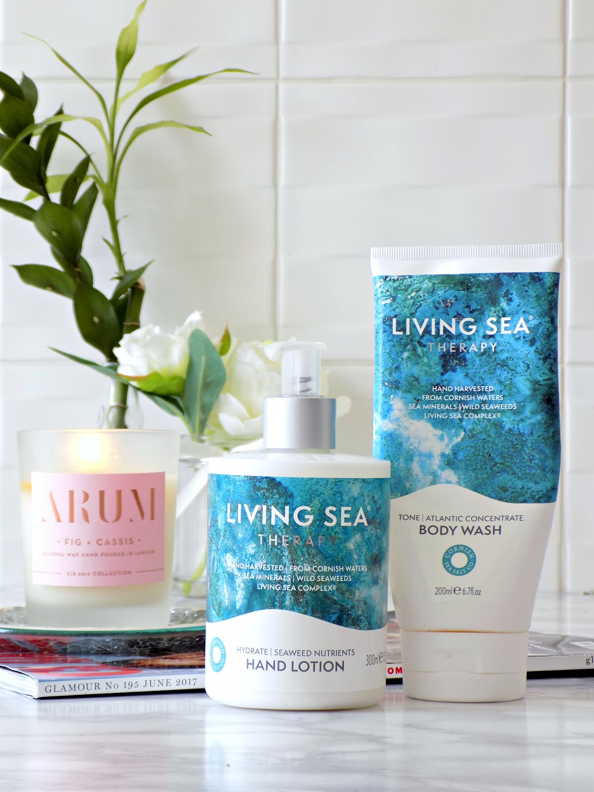 Living Sea Therapy body wash and hand lotion