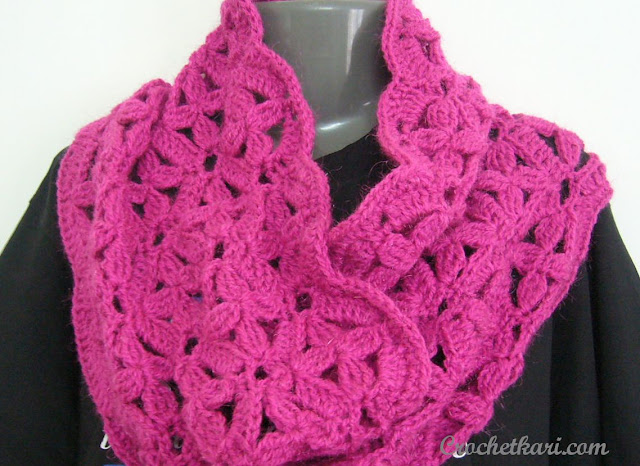 crochet flower cowl pattern