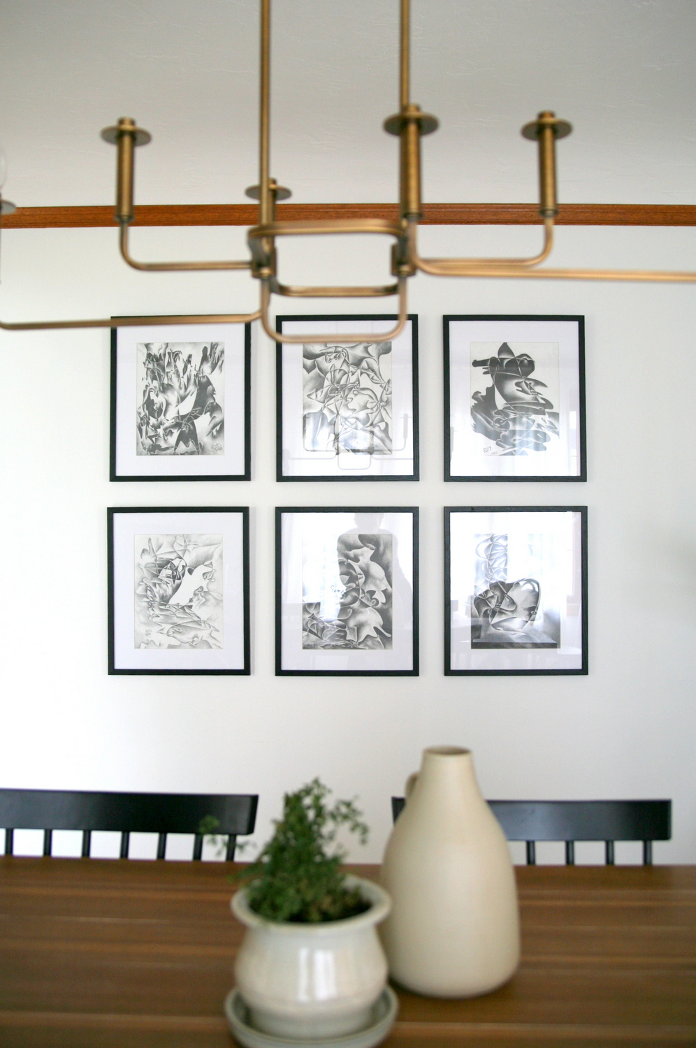 How To Measure And Hang A Grid Gallery Wall Dining Room Art With Affordable Custom Frames Hardware Create Enjoy