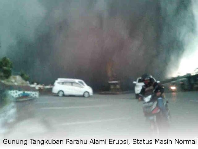 Gunung Tangkuban Parahu Alami Erupsi, Status Masih Normal