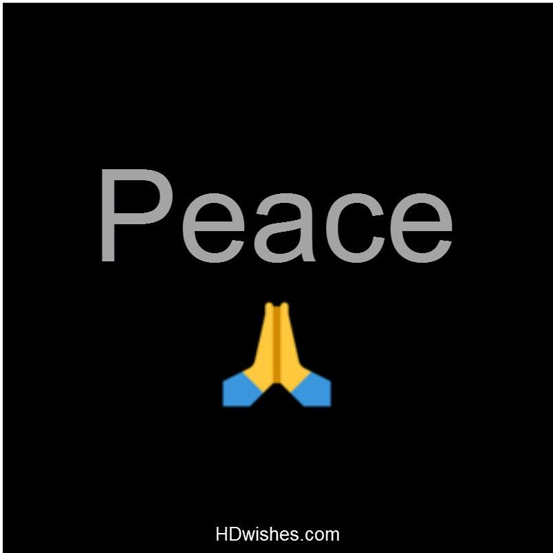 Peace Black DP