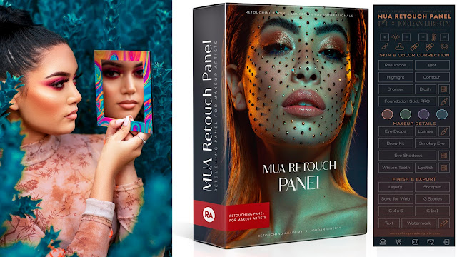 ازاى تعمل ايديت وريتاتش باستخدام RETOUCH PANE