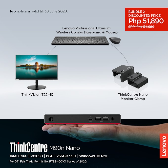 Lenovo as it rolls out ThinkCentre work-from-home productivity bundles supporting new flexible working norms
