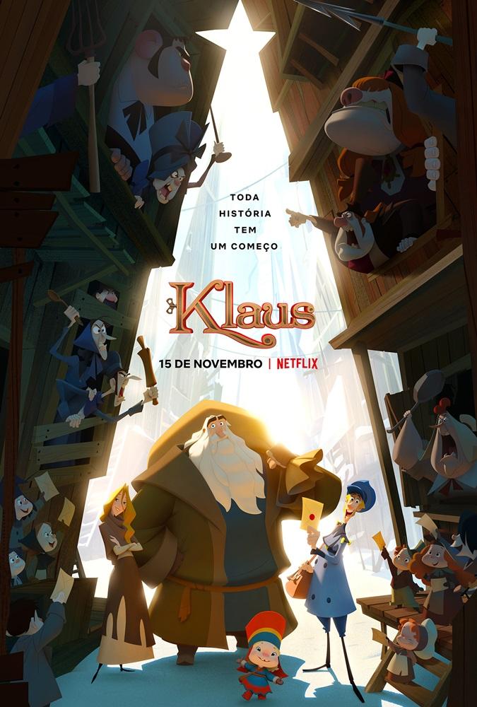 dica, filme, animacao, poster, Klaus, Netflix, indicado-ao-Oscar, opiniao, musica, tema, blog-literario-petalas-de-liberdade, filme-natalino
