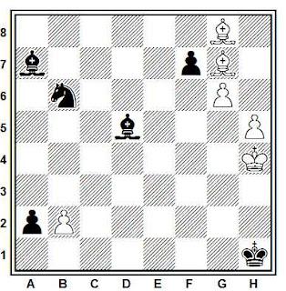 Estudio artistico de ajedrez de Estudio de A. Kuznetsov (JT Moscú, 1997)