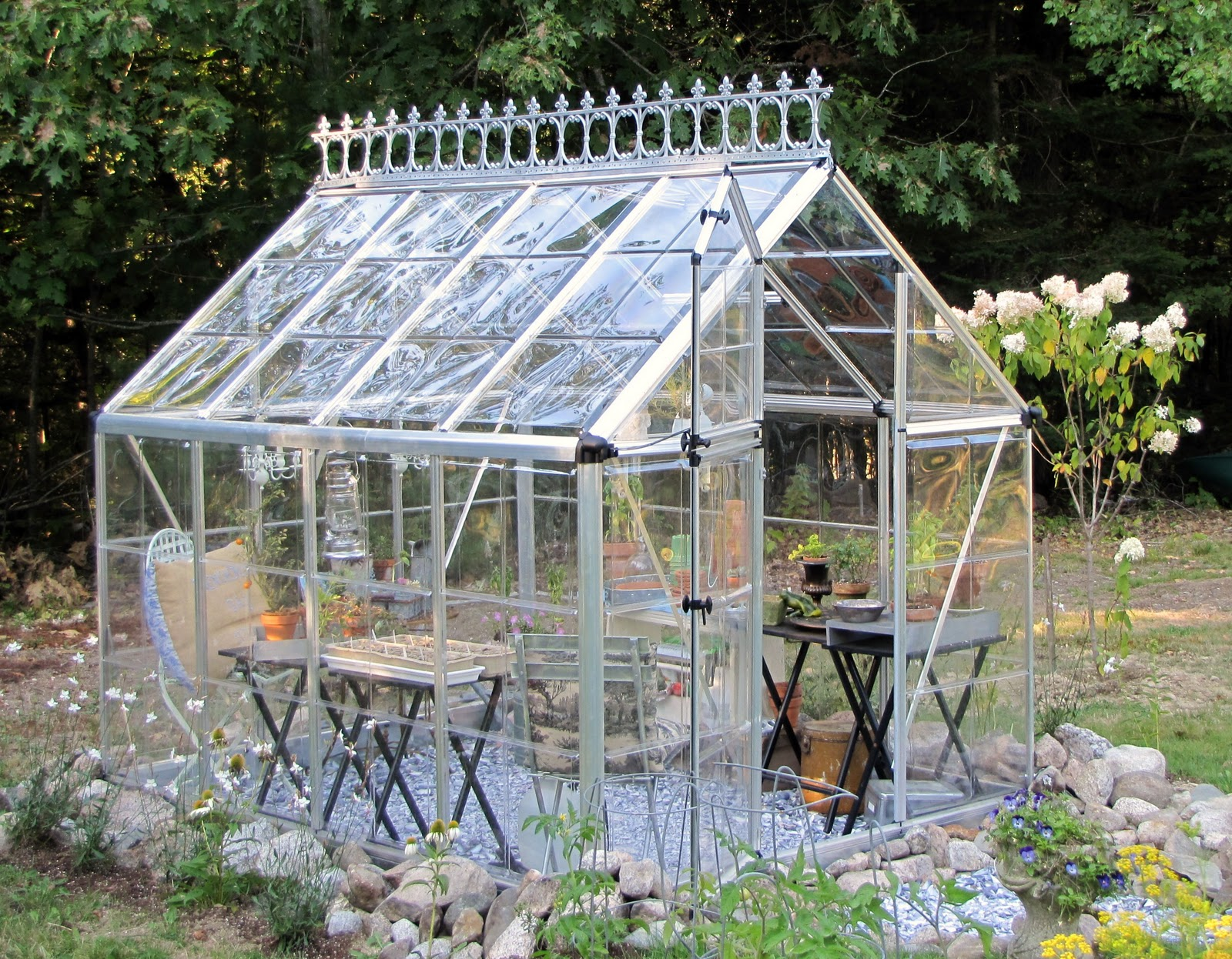 Amazing Fearless Nesting Adding Romantic Touches To My Tiny Greenhouse Largest Home Design Picture Inspirations Pitcheantrous