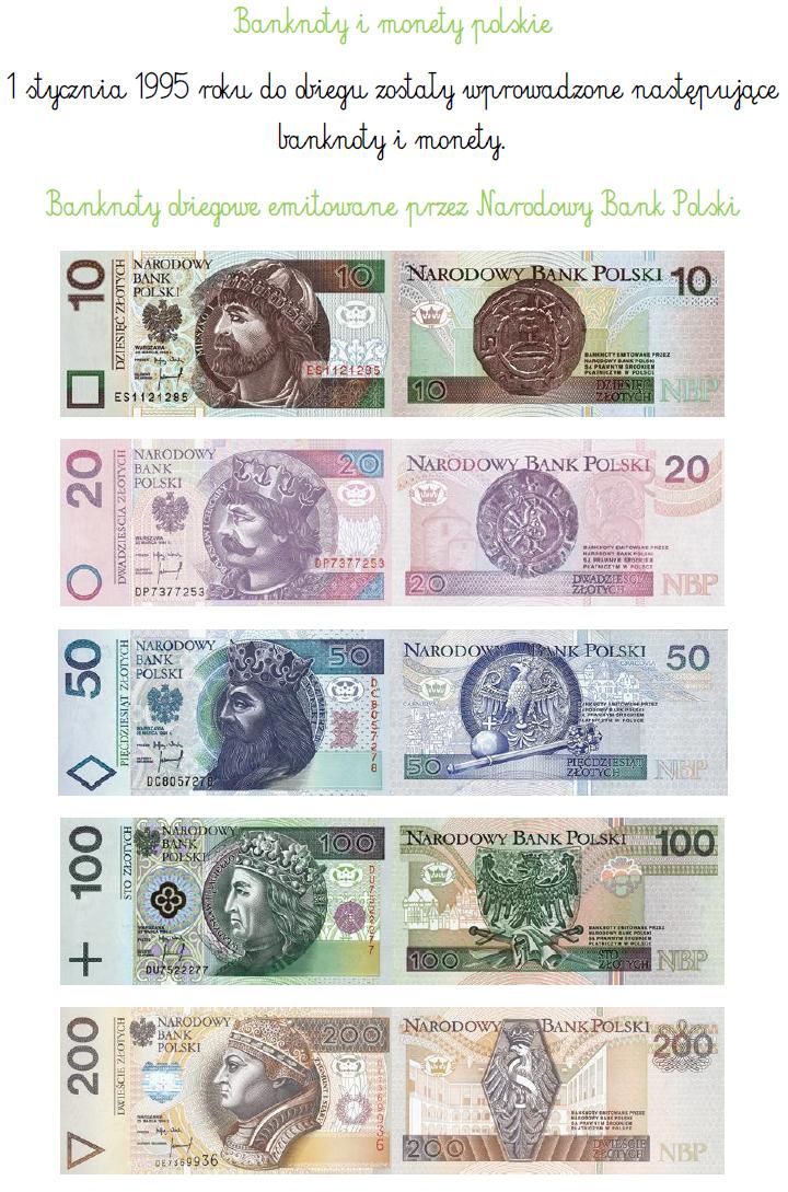 BLOG EDUKACYJNY DLA DZIECI: Banknoty