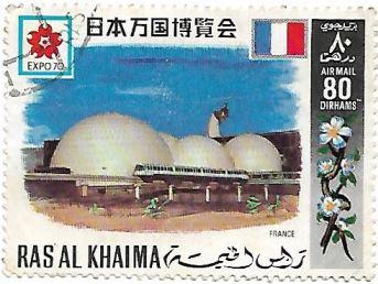 Selo Pavilhão da França na Expo 70