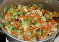 Vegetable stir fry for Nigerian fried rice