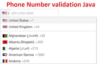 How to validate phone number in Java?