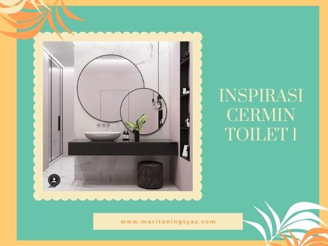 inspirasi cermin toilet bulat