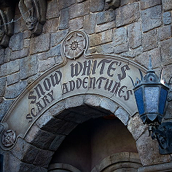 Snow Whites Scary Adventure ride at Disneyland