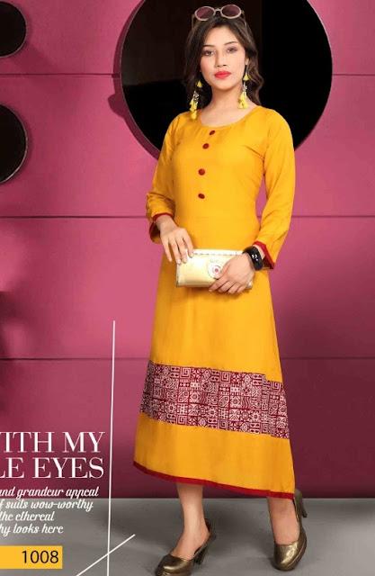 Divya Rayon Casual wear kurtis Latest Design buy wholesale