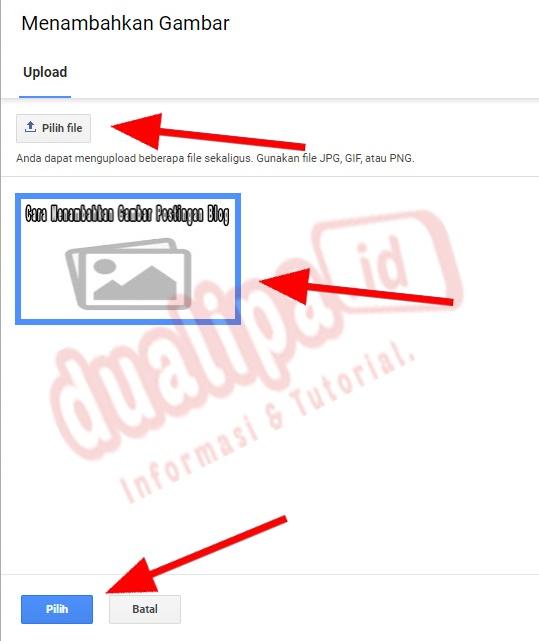 Cara Menambahkan Gambar Postingan Blog