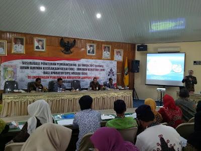 Pemda Lampung Timur Sosialisasikan Iuran JKK-JKM Bagi ASN