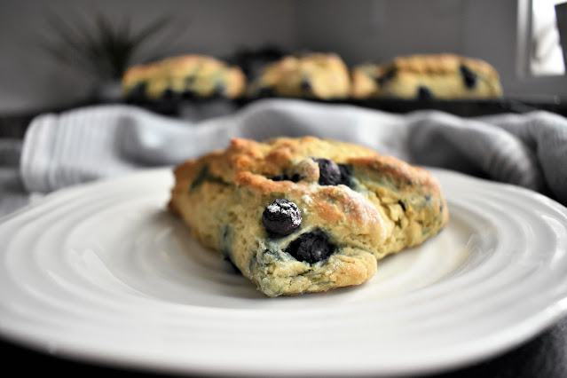 Vegan Blueberry Scones Sugar Free