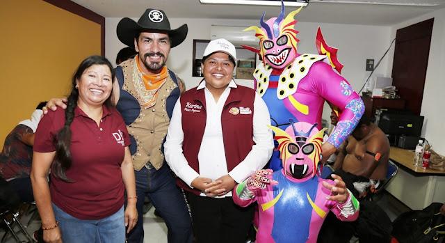 Karina Pérez Popoca celebra el día del padre ante más de 4 mil sanandreseños