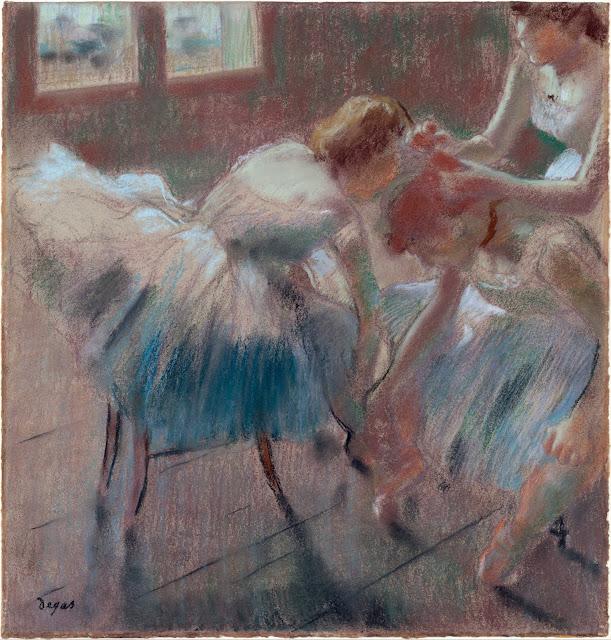 Эдгар Дега - Три танцовщицы готовятся к занятиям (после 1878)