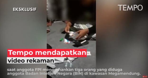 Beredar Video Amankan 3 Orang Diduga Anggota BIN di Megamendung, Ini Tanggapan FPI