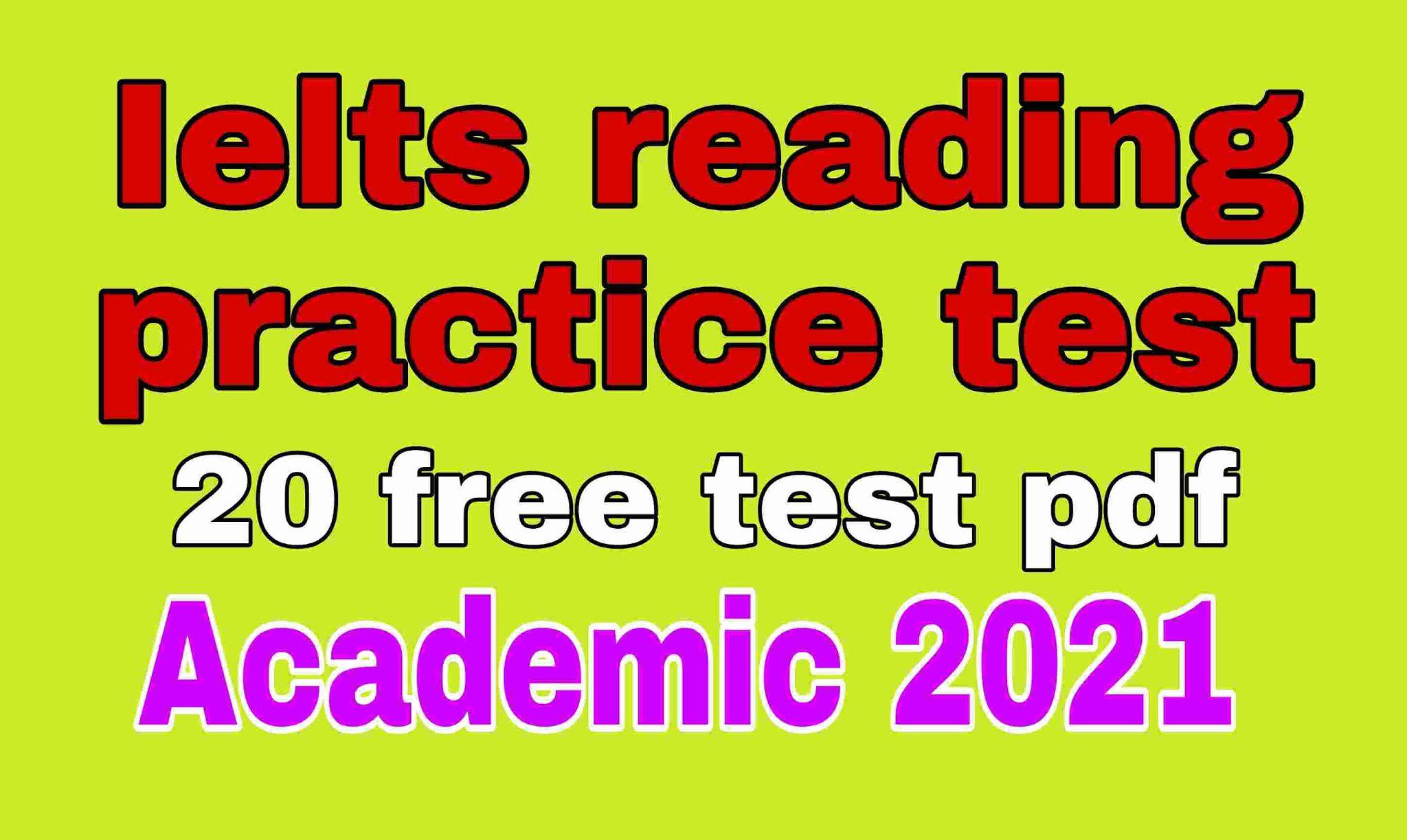 Ielts reading practice test 2021 pdf