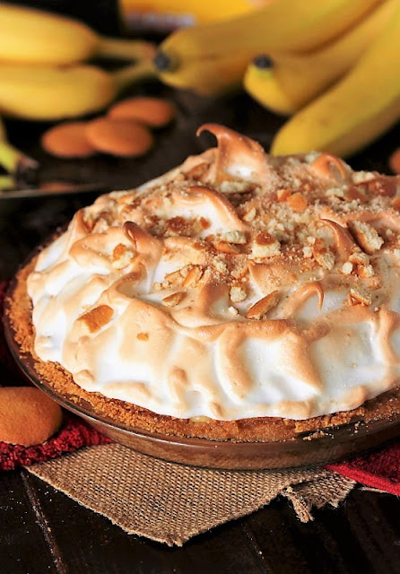 Whole Banana Pudding Pie Made from Scratch Image