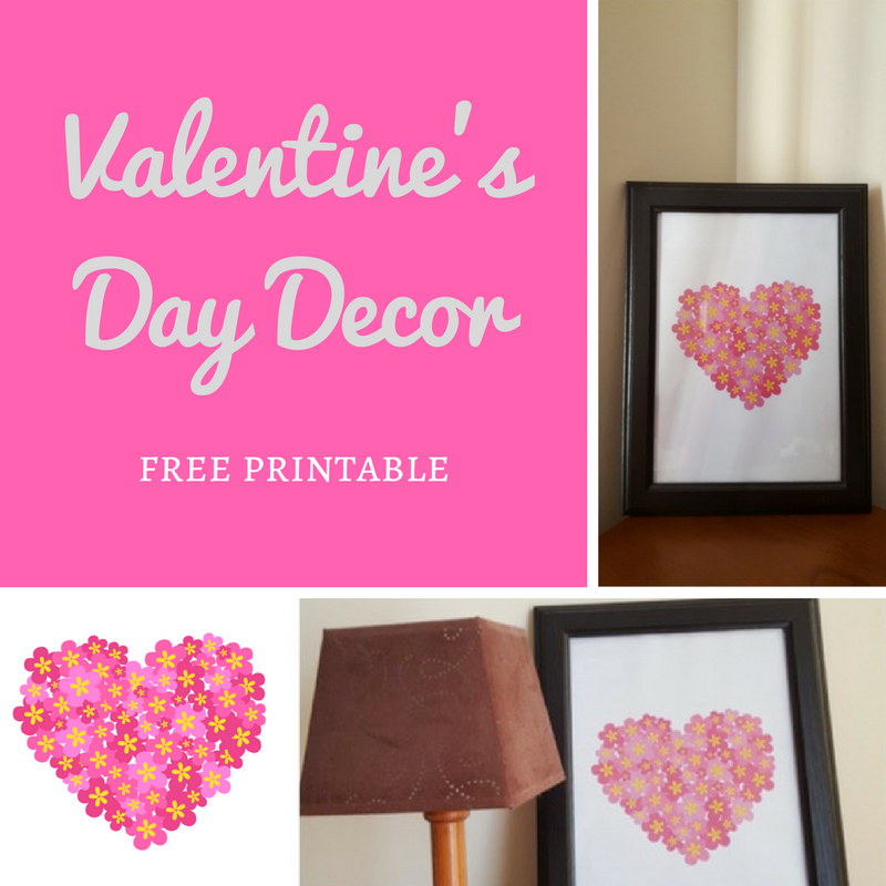 Valentine S Day Decor Free Printable Keeping It Real