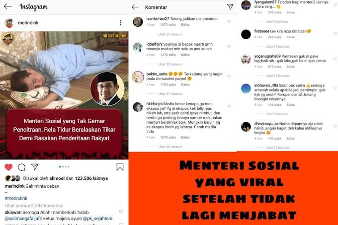 Menteri Sosial yang Viral ketika Tak Lagi Menjabat