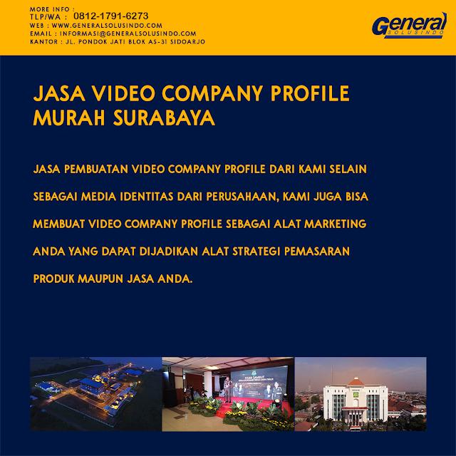 Jasa Pembuatan Video Company Profile Surabaya 081217916273