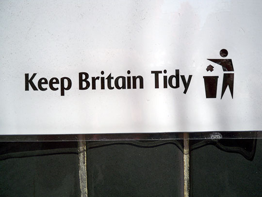 keep Britain tidy, urban photography, art, sign, street photography, contemporary, Sam Freek,