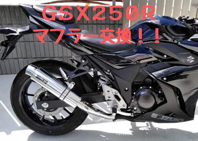 GSX250R WR´s マフラーの写真