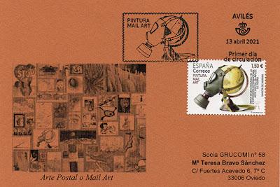 tarjeta, filatelia, matasellos, sello, Mail art, Arte Postal