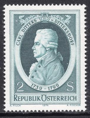 Austria 1974 - Carl Ditters von Dittersdorf - Composer