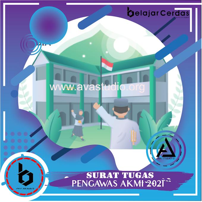 [Format] Surat Tugas Pengawas Asesmen Kompetensi Madrasah Indonesia (AKMI) Tahun 2021 - Belajar Cerdas