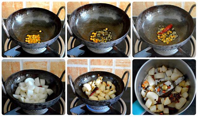 Radish Chutney recipe for Idli, Dosa ( Mullangi Chutney/Mooli Chutney)